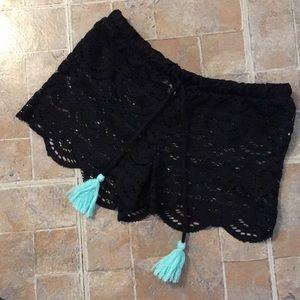 Miken Swim lace shorts swim coverup size women XS